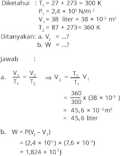 Pembahasan soal fisika bab termodinamika nomor 3
