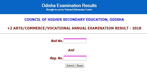 Odisha CHSE +2 Arts, Commerce & Vocational 2018 Annual Exam Results