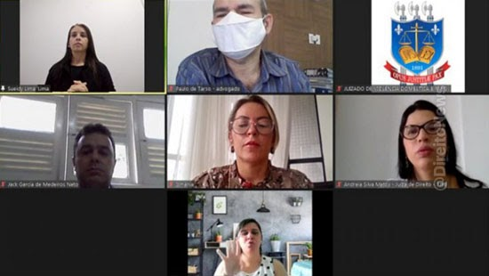 juiza audiencia virtual auxilio interprete libras