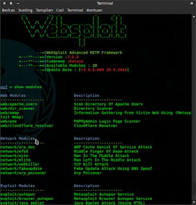 Cara DDoS Attack dengan Websploit