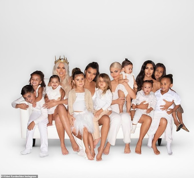 The Kardashian family release their Christmas card with Rob, Kendall and Kris Jenner missing