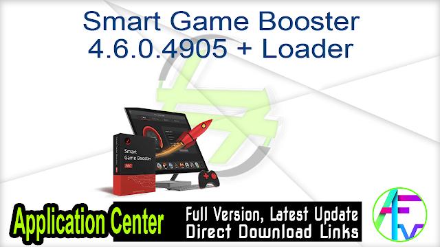 Smart Game Booster 4.6.0.4905 + Loader