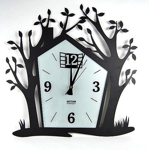 Aneka Model Jam Dinding Unik Untuk - Bentuk Rumah dan Pohon b2c14674ac
