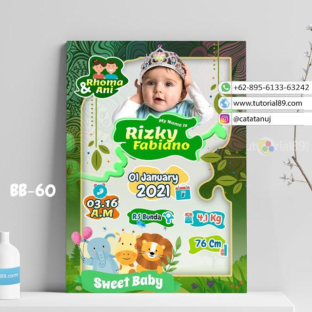 Biodata Bayi Costume Unik Kode BB60 | Animal