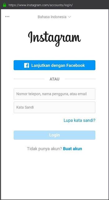 login instagram web