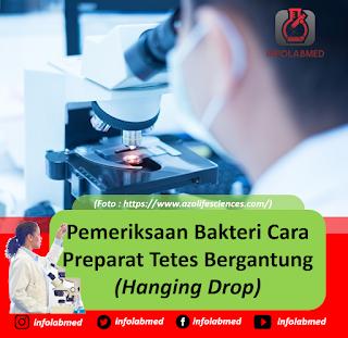 Pemeriksaan Bakteri Cara Preparat Tetes Bergantung (Hanging Drop)