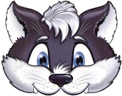 Máscaras de gato color para imprimir