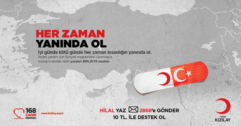 """Türk Kızılay, """"Yanında Ol"""" adıyla kampanya başlattı"""