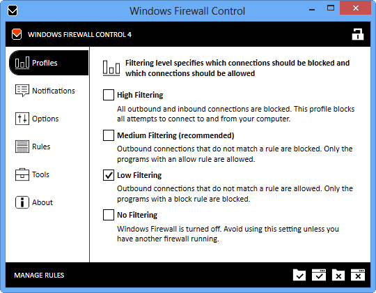 Windows Firewall Control 4.9
