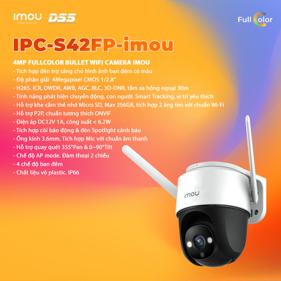 Camera speed done Imou IPC-S42FP Fullcolor 4.0