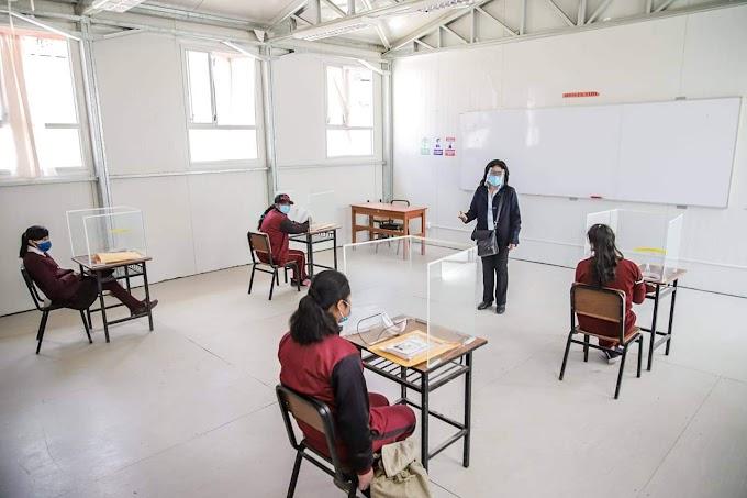 Escolares del colegio ubicado en el anexo San Cristobal, regresaron a clases presenciales. 📚🏫