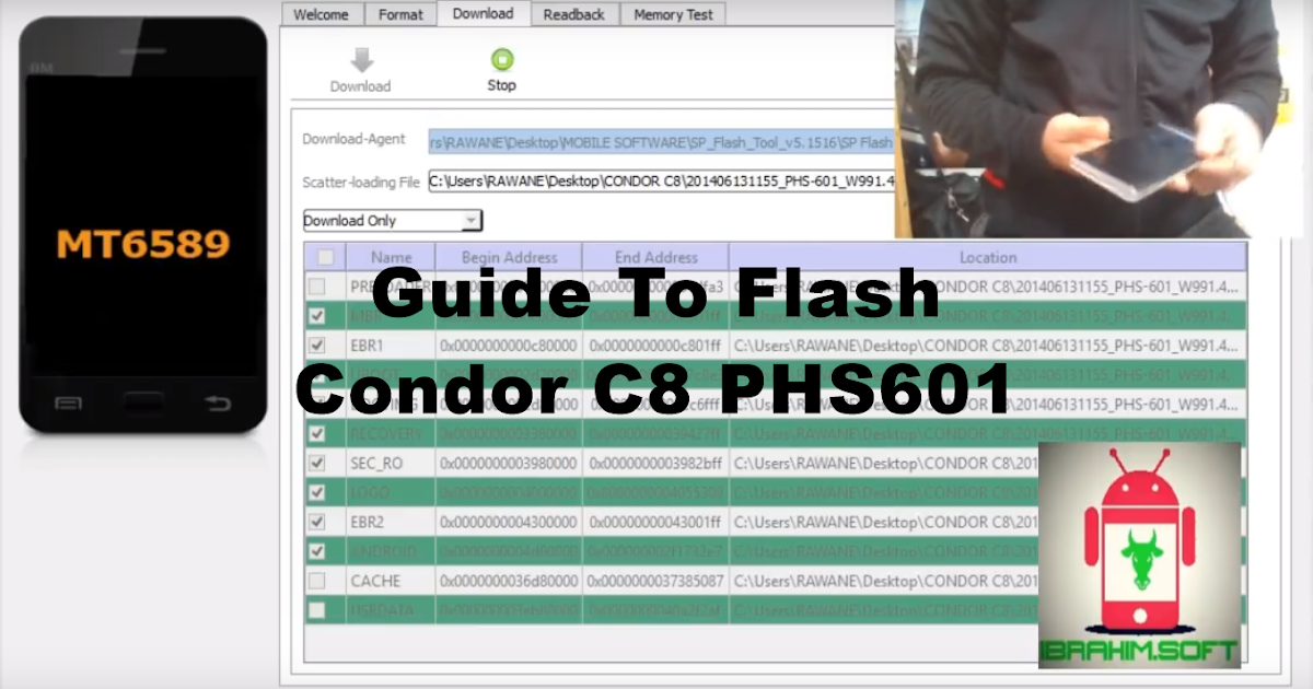 sp flash tool condor c8