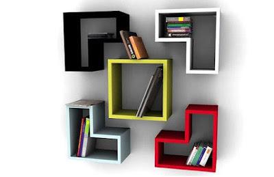 Brick Bookshelf