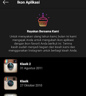 Cara mengganti icon instagram
