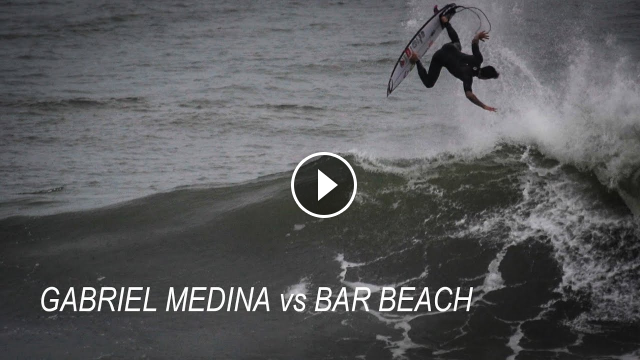 Gabriel Medina vs Bar Beach this afternoon