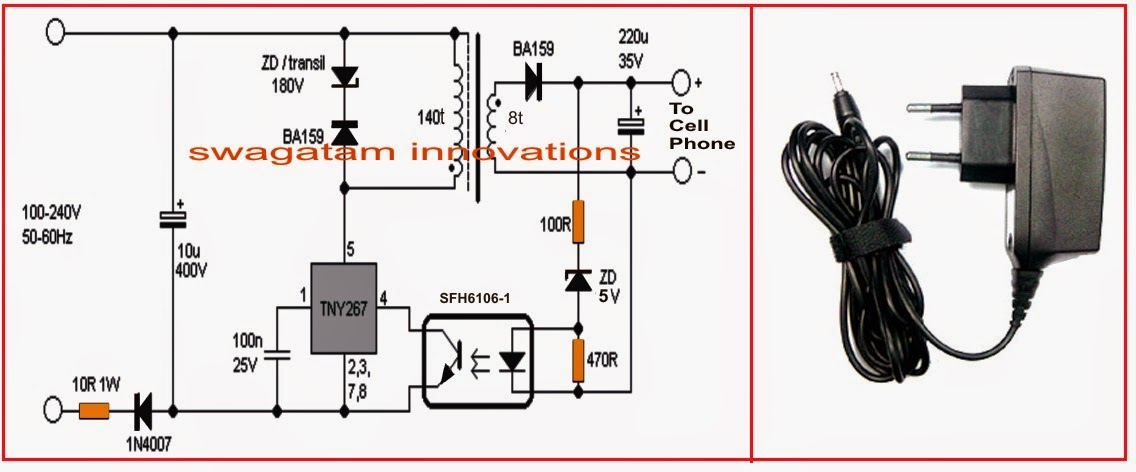 220V+SMPS+Cell+Phone+Charger+Circuitjpg (1136×472) Electronice - p amp amp l sheet example