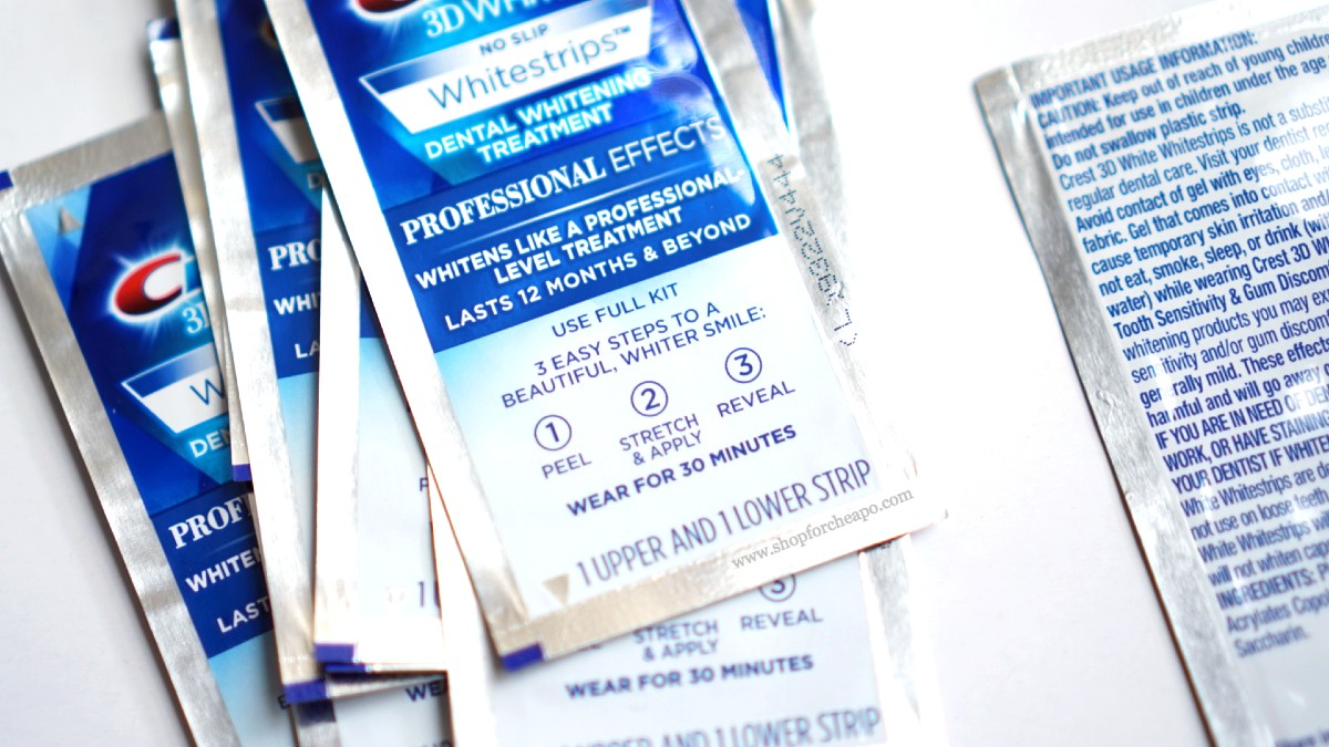 Review Foto Before After Crest 3D Whitestrips Teeth Whitening Kit