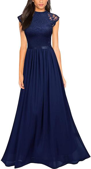 Beautiful Blue Chiffon Bridesmaid Dresses