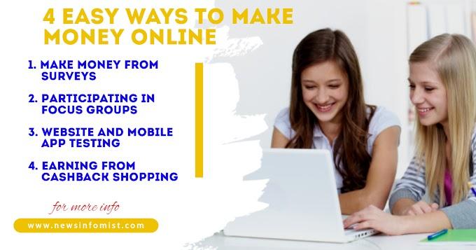4 Easy Ways to Make Money Online