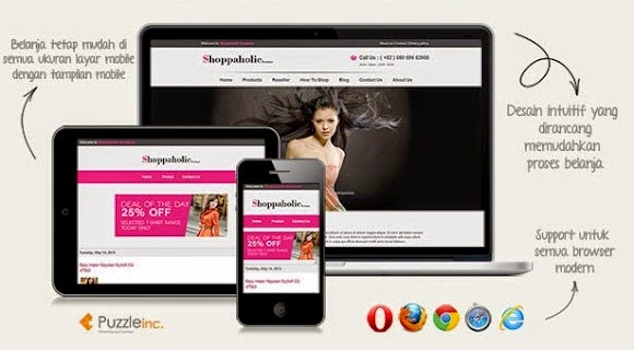 Shoppaholic - Responsive Blogger Template for Online Shop