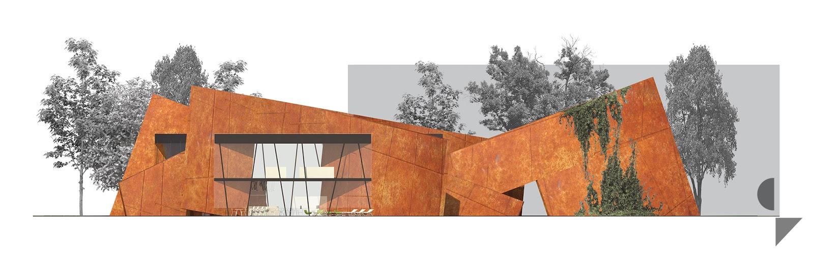 widok elewacji projektu architektonicznego