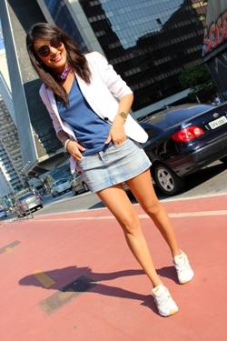 tênis, jeans, avenida paulista, blazer feminino, camiseta forever 21, lenço, estilo pessoal, look do dia, blog de moda, estilo casual de tênis