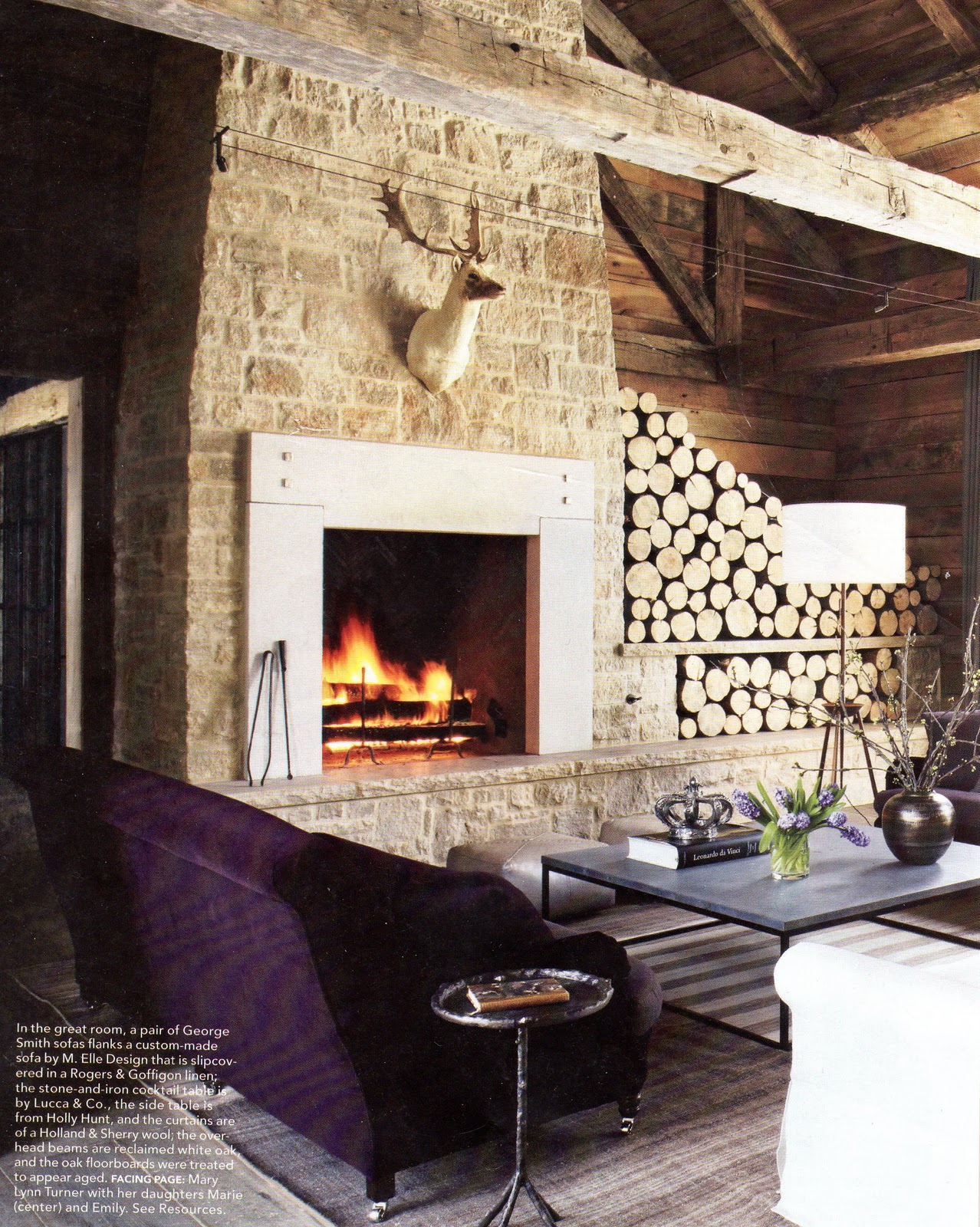 Interiors Dark Wood Floors And Bright White Fireplace Decorpad Com