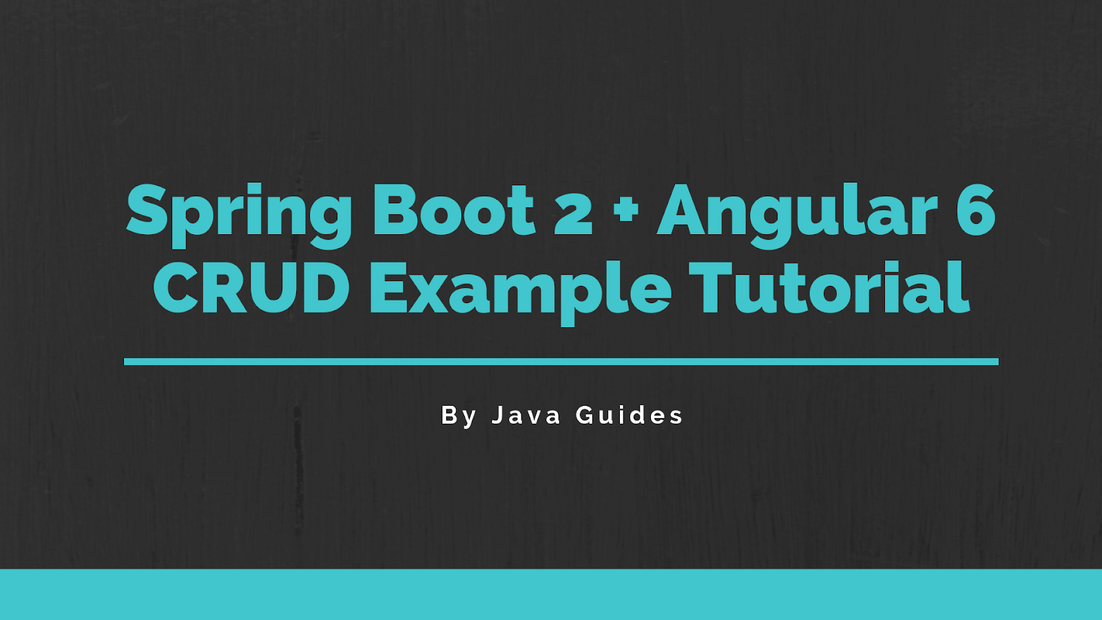 Spring Boot + Angular 6 CRUD Example