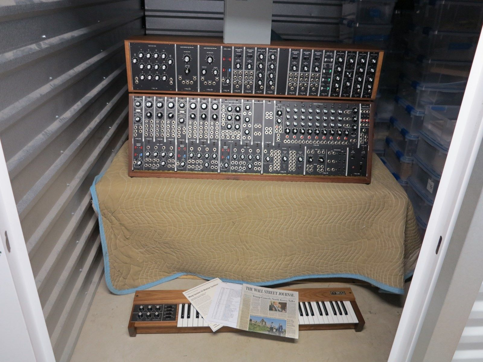 matrixsynth moog model 55 modular synthesizer with 953 keyboard. Black Bedroom Furniture Sets. Home Design Ideas