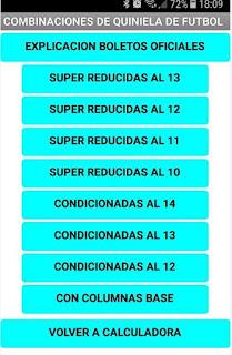 Combinaciones de Quinielas de futbol.