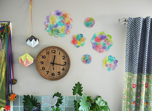 Painted Doilies as Wall Art