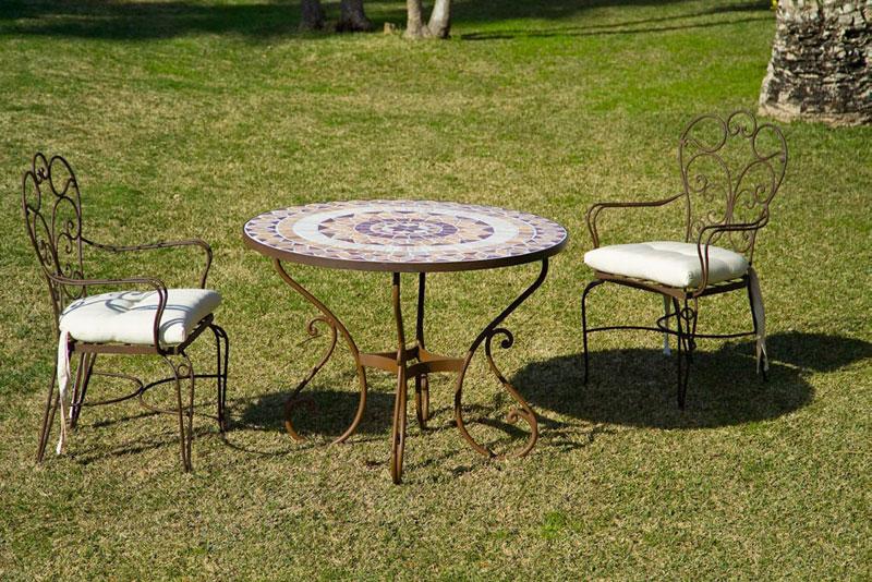 Muebles de forja mesas y sillas terraza grandes en forja - Mesas y sillas de terraza ...