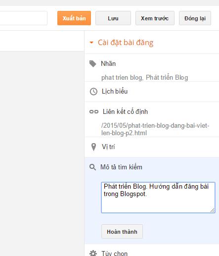 Phát triển blog thư pháp Thanh Phong: Đăng bài