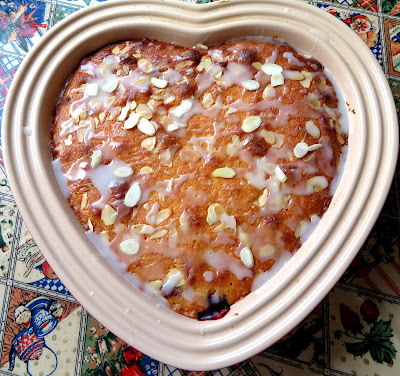 Blackberry Bakewell Pudding