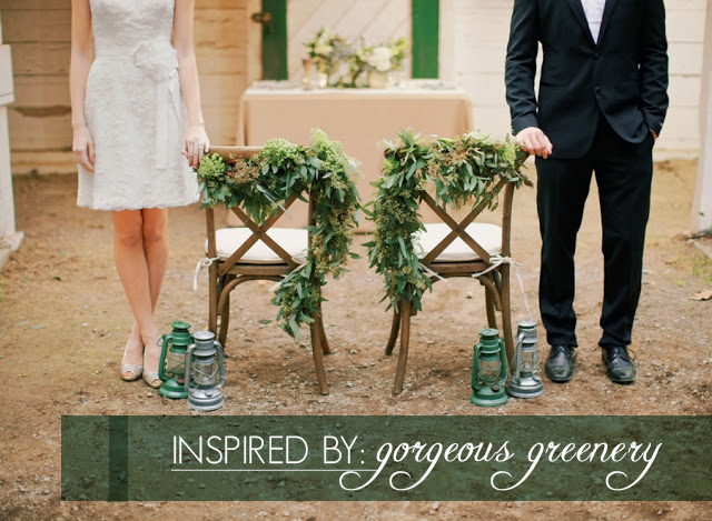 inspired by gorgeous greenery in your wedding or event | via Oh Lovely Day