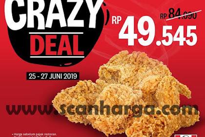 Promo KFC Crazy Deal Harga 5 Pcs Ayam Rp 49.545 Edisi 25 - 27 Juni 2019
