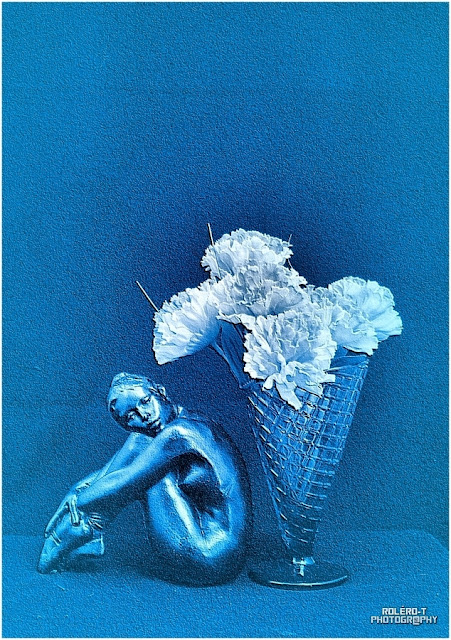 La danseuse et le vase verre gaufré