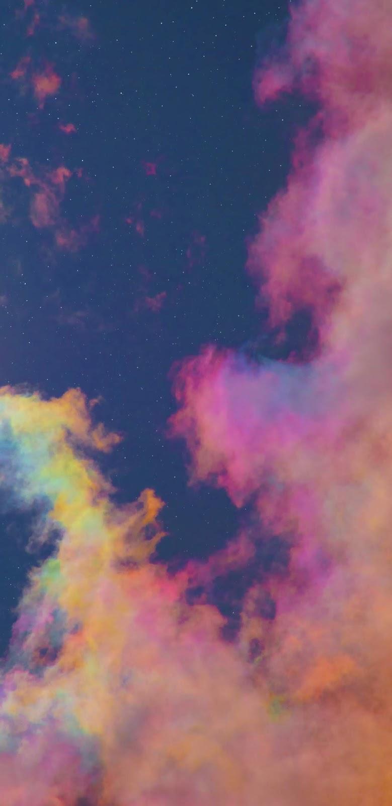 Colorful night sky wallpaper