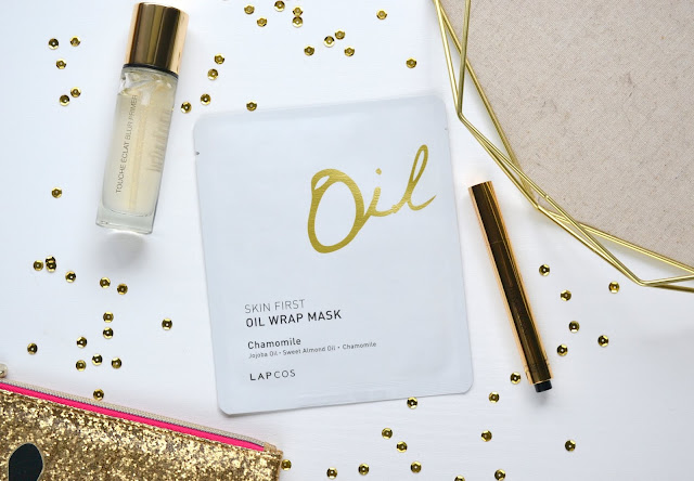 Lapcos Skin First Oil Wrap Mask in Chamomile Flatlay