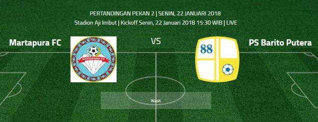Martapura FC vs PS Barito Putera