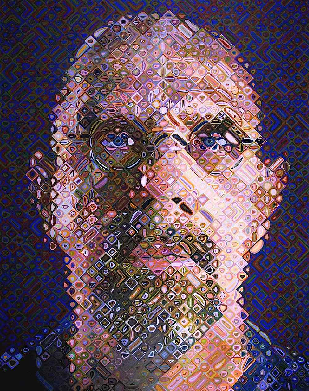 a Chuck Close painting