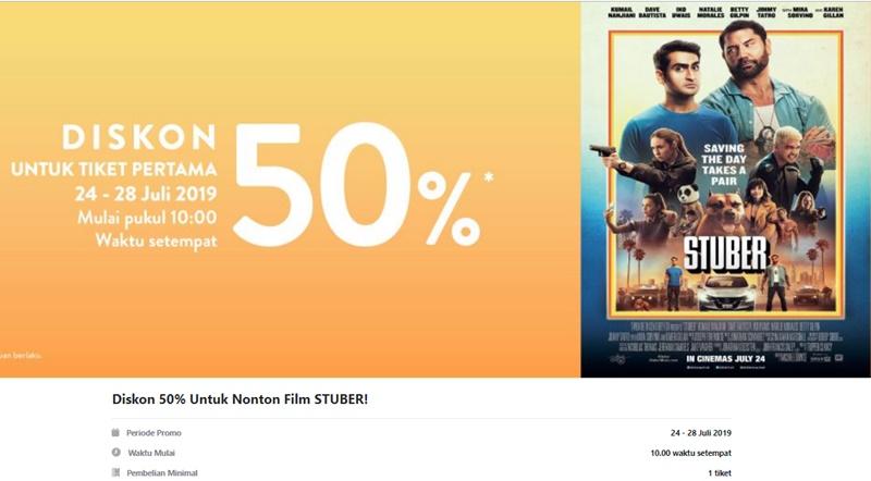 Promo Diskon 50% Film Stuber - Tix ID