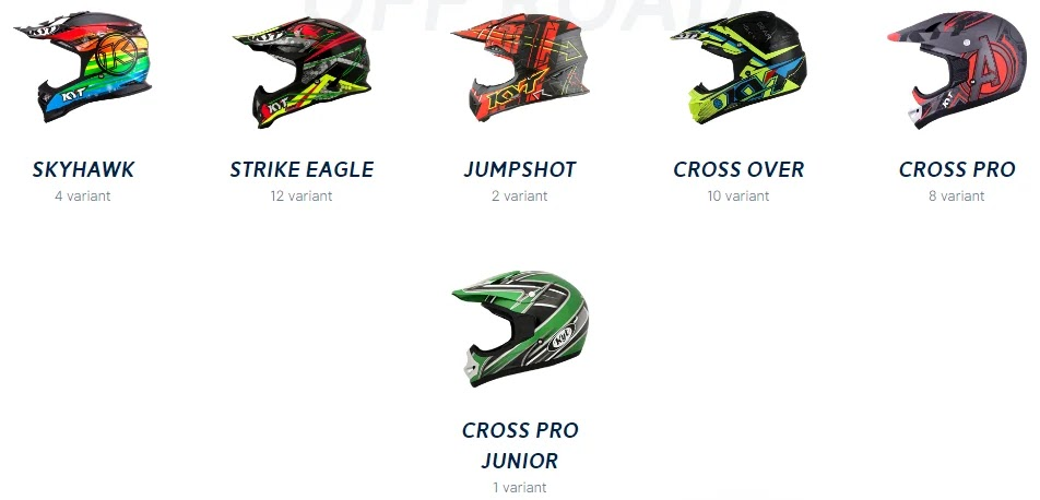 Skyhawk, Strike eagle, Jumpshot, Cross over, Cross pro dan Cross pro junior