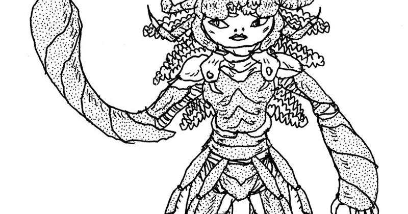 Le Chaudron Chromatique: Scorpion Queen with venom crown.