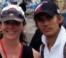 Photo of Dan and Cate at St. Pete Indycar race in 2008