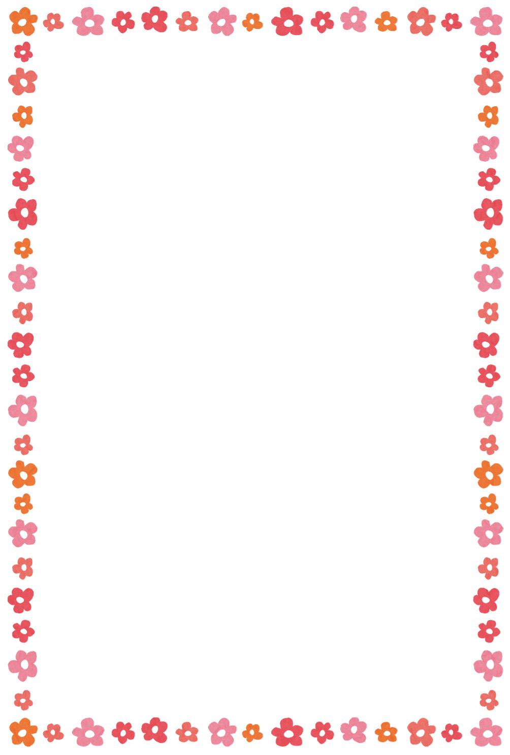 花のイラストフレーム(枠) | かわいいフリー素材集 いらすとや