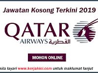 Jawatan Kosong Terkini 2019 Qatar Airways - Tetap/ Kontrak