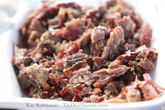 Shredded smoked beef brisket from The Original Tom's BBQ in Horn Lake, MS