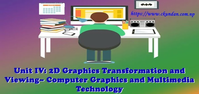 Unit IV: 2D Graphics Transformation and Viewing – Computer Graphics and  Multimedia Technology