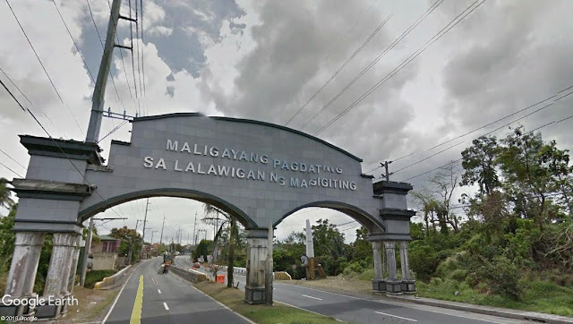 The Batangas welcome arch at the border of Santo Tomas with Laguna.  Image source:  Google Earth Street View.